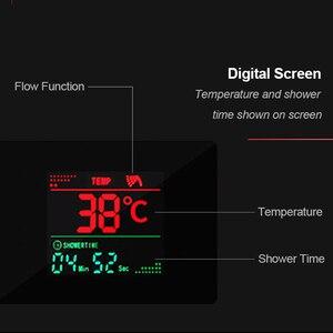 Image 3 - Душевая панель Senlesen из нержавеющей стали, светодиодный Водопад, душевая головка, Керамический клапан, смеситель для воды, для ванной комнаты