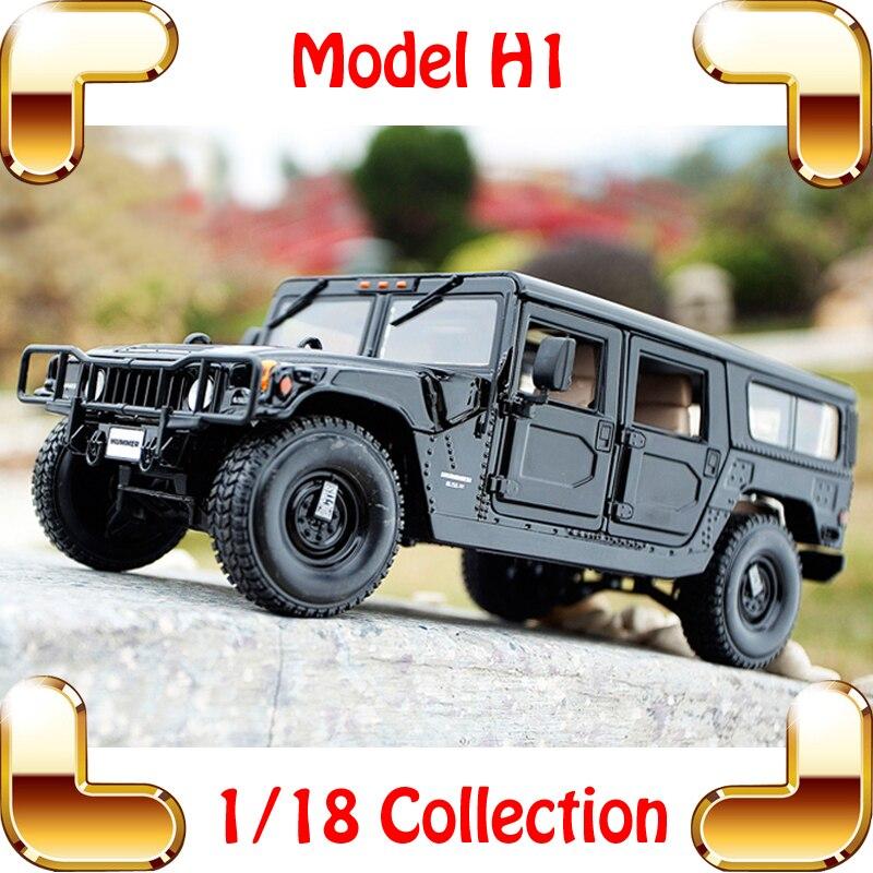 Nouvel an cadeau H1 1/18 énorme camion modèle voiture SUV forte conception en métal véhicule Collection Pro voiture Fans présents Jeep jouets présents