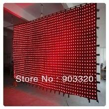Rasha P10 2M 3M 20 30 600 LEDS PC Control LED Vision Curtain LED Vision Cloth