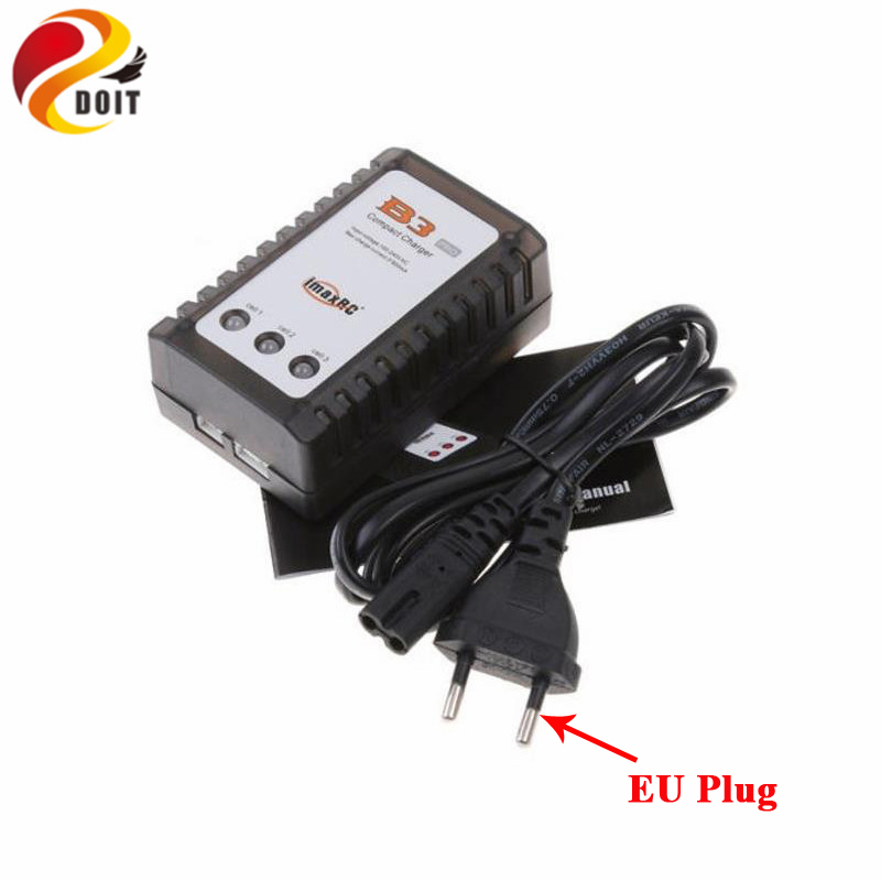 DOIT B3 Charger for Model Aircraft lithium Battery 7.4 V to 11 V, 2 s, 3 s Simple B3 Balance Charger The Power Adapter RC Toy 3pcs battery and european regulation charger with 1 cable 3 line for mjx b3 helicopter 7 4v 1800mah 25c aircraft parts
