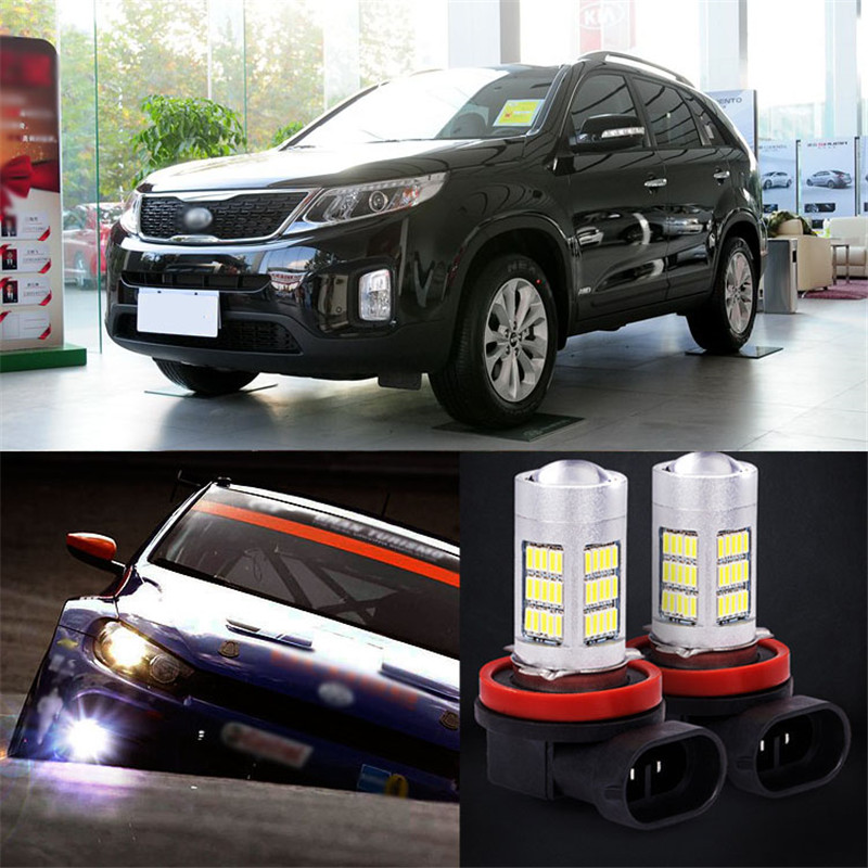 Ownsun 2pcs 72 SMD Daytime Running Light Bulbs LED Fog Lamp For Kia Sorento 2013 холодильник beko ds325000s