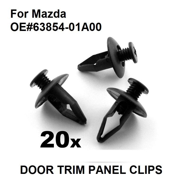 20x Honda 8mm Plastic Wheel Arch Lining Rivet Clips Trim clips for splashguards