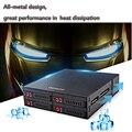 """4 Bahías de 2.5 """"SATA HDD DISCO Duro SSD Bastidor Móvil Función de Transmisión de 6 Gbps Backplane con Casillero Clave para 5.25"""" Bahía de la unidad"""