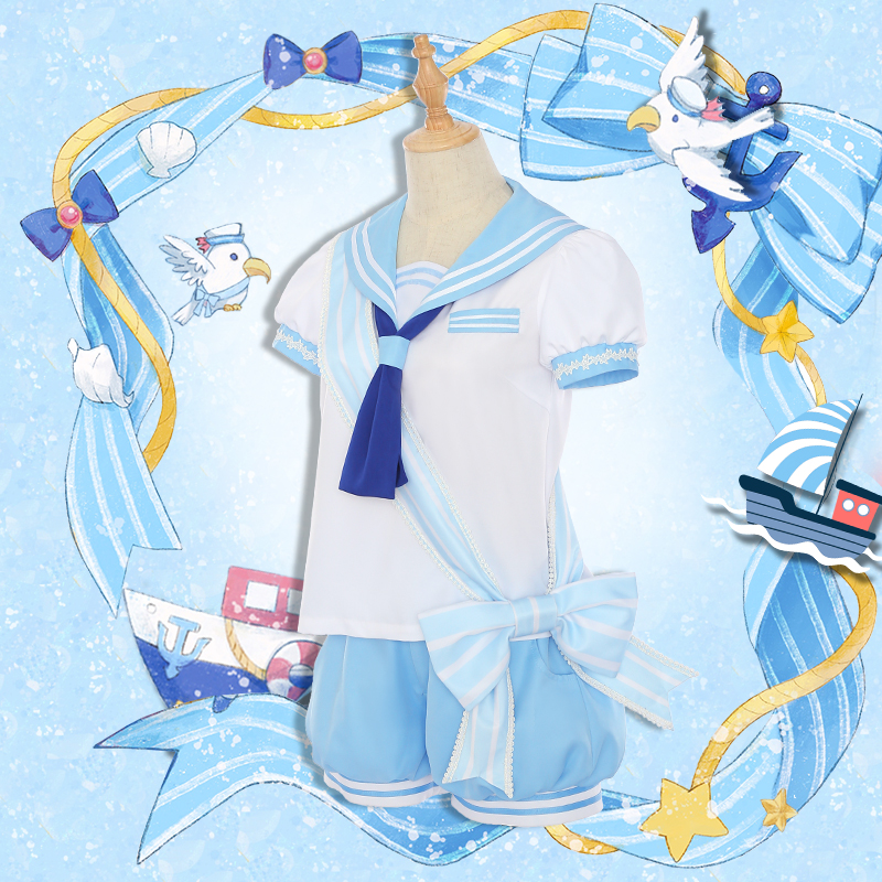 Amine Card Captor Sakura Cosplay Tomoyo Daidouji KINOMOTO SAKURA Dress Women Summer Sailor Costume