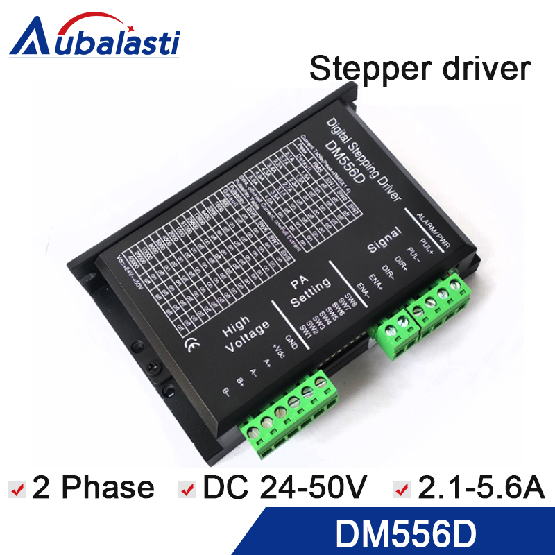 все цены на 2 phase digital hybrid stepper driver DM556D input voltage VDC 24-50V 2phase current 2.1-5.6A match the motor 57 86 serial