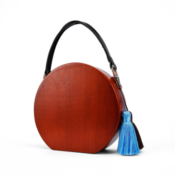 Round Shape Wood Bag 1