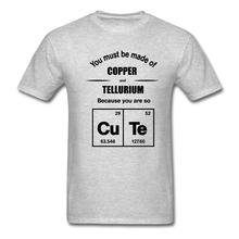 Cute Copper & Tellurium Funny Chemistry Men's T-Shirt Design Style New Fashion Short Sleeve Pride Of The Creature T Shirts