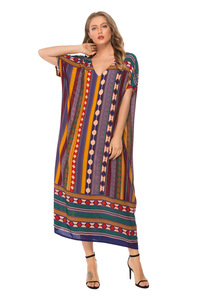 Image 3 - Muslim Womens Nightgown Plus Size V neck Sleepwear Short Sleeve Nightdress Home Dress Fashion Nightwear XXL Big Size Nightshirt