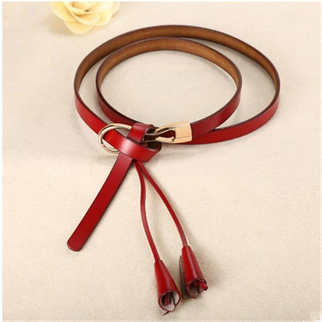 New Arrival Women's Fashion Girls Knot Belts Brand Genuine Leather Famale Straps for Women Dress Sweat Luxury Belt 2