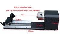 Новые Pro DIY CO2 Запчасти лазерной ЧПУ гравировки Резка машины оси вращения цилиндра Круглый чашки бамбука 3040 3050 6040 6090