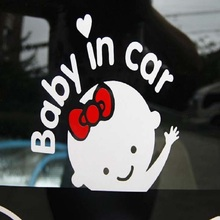 hot deal buy 15*14cm baby on board car sticker decal waterproof safe motorcycle car accessories lovely colorful warning mark car covers