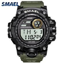 SMAEL Brand Watch Men Military Sports Watches Fashion 5Bar Waterproof LED Digital Watch For Men Clock Man Relogio Masculino цена 2017