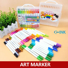 36 color Art Marker , Dual Head Watercolor Pen , Colored Highlighter Marker Pen as School Students Drawing Supplies
