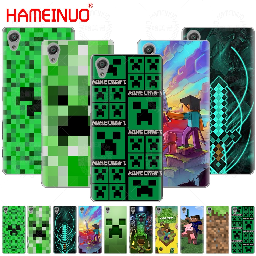 US $2 43 |HAMEINUO Creeper Minecraft Cover phone Case for sony xperia z2 z3  z4 z5 mini plus aqua M4 M5 E4 E5 E6 C4 C5-in Half-wrapped Case from