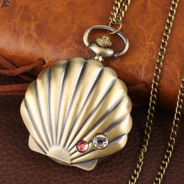 русалка в виде ракушки карманные часы уникальный глянцевого фотография
