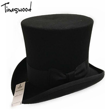 b49599c518c82 18cm Black Red Gray High Wool Top Hat For Men And Men Chapeau Fedora  Magician Felt