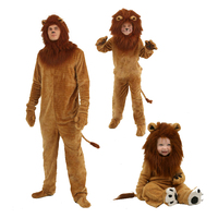 Adult Kids Animal Cosplay Deluxe Lion King Lion Costume Animal Halloween Oktoberfest Cosplay Costumes Boys Pajamas