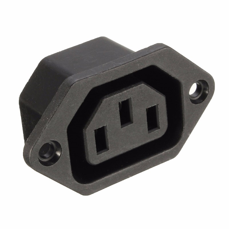 Chassis Female 10A/250V 3PIN 05231 AC IEC C13 C14 Inline Socket Plug Adapter Mains  Connector Powering Supply Output Outlet