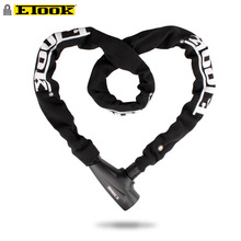 Etook Chain lock Mountain Road Bike Lock Motorcycle/E-bike Bicycle Accessories Reflective Cloth Lengthen 1000MM 4 colors