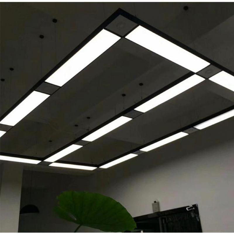 Led escritório Luz Pingente moderno luz de tira retangular Hanglamp modelagem lâmpadas do corredor varanda corredor luzes de linha de pesca - 6