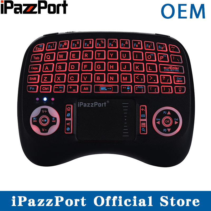 Ipazzport Air-Mouse Mini Pc Raspberry Android Wireless-Keyboard Touchpad Backlit