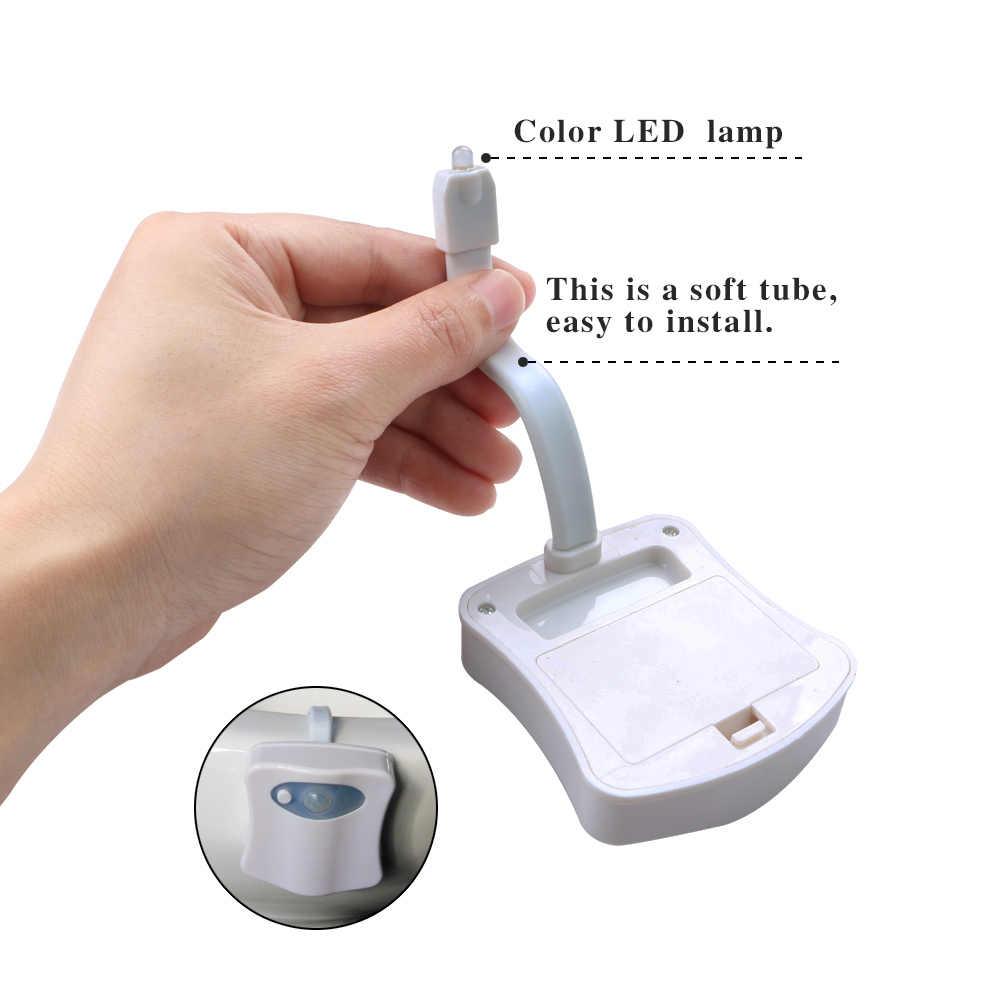 Ванная комната туалет ночник светодиодный движение тела активированный ВКЛ/ВЫКЛ освещение для туалета с сенсорным управлением лампа 8 цветов отель, Ресторан Лидер продаж