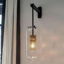 Nordic luksusowe ścianie światła po nowoczesny szklany kinkiet dla salon sypialnia lampki nocne lampy kryty oświetlenie dekoracji w Wewnętrzne kinkiety LED od Lampy i oświetlenie na