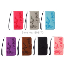 Butterfly Flower Wallet Leather Pouch Case For Samsung Galaxy NOTE8 NOTE 8 Strap Money Pocket Stand Cell Phone Skin Cover 50pcs