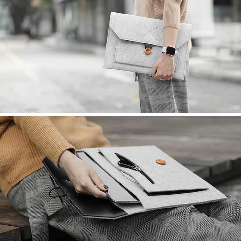 2019 Hot Fashion Merasa Lengan Laptop Casing 15.6 Cover untuk MacBook Pro 13 Retina 11 12 Baru 15 Touch Bar untuk Xiao Mi Mi Air 13.3 Case