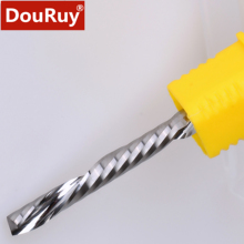 5pcs single-edged left helical down cut end mill router bits cutting tool for acrylic, PVC, resin, plastic  12 7 90 32 wood router bits cnc tool router bit end mill for mdf plywood cork plastic acrylic pvc