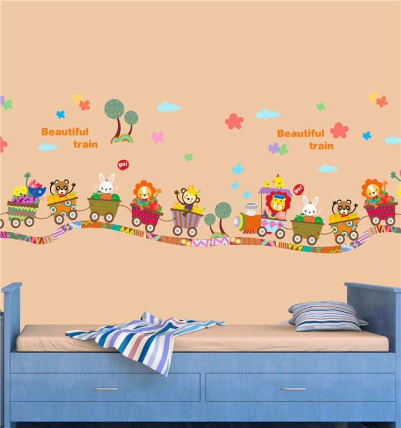 Wall Décor Winnie The Pooh Tigger Train Removable Wall Sticker Decal Kids Nursery Decor Art Nursery Décor