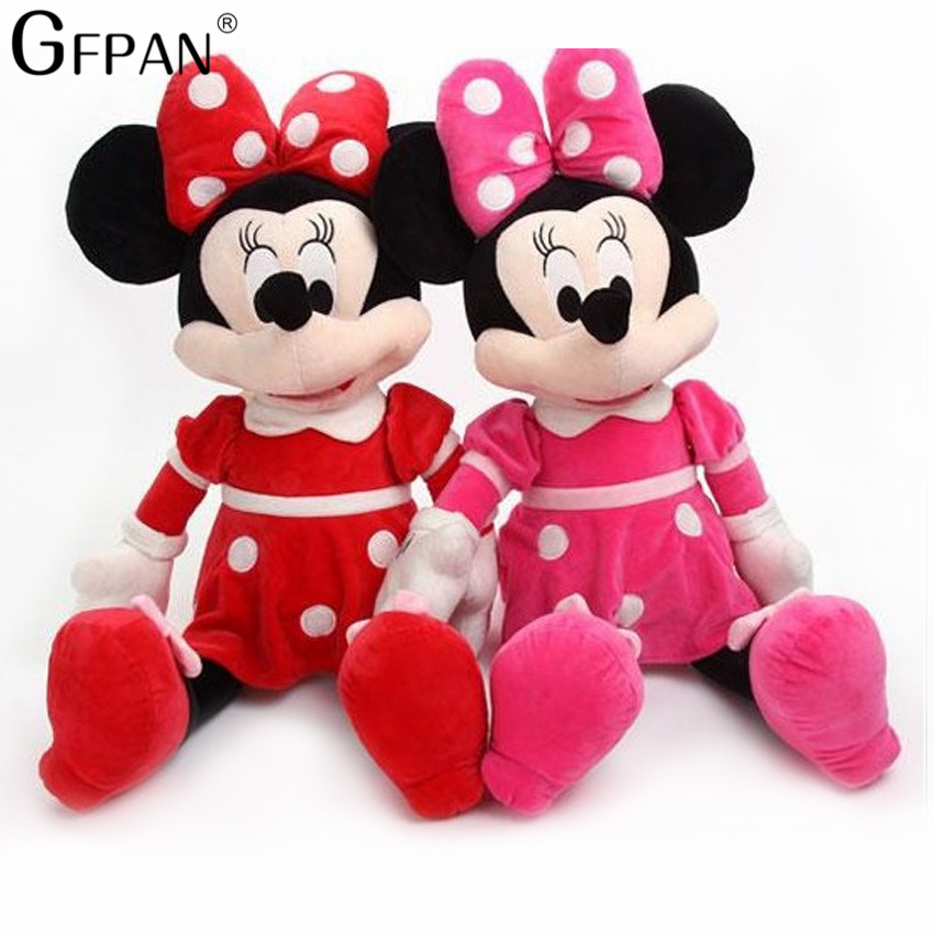 2pcs/lot 40cm Kawaii Mickey Mouse And Minnie Mouse Plush Cartoon Figure Toys Stuffed Dolls Christmas Gift For Kids