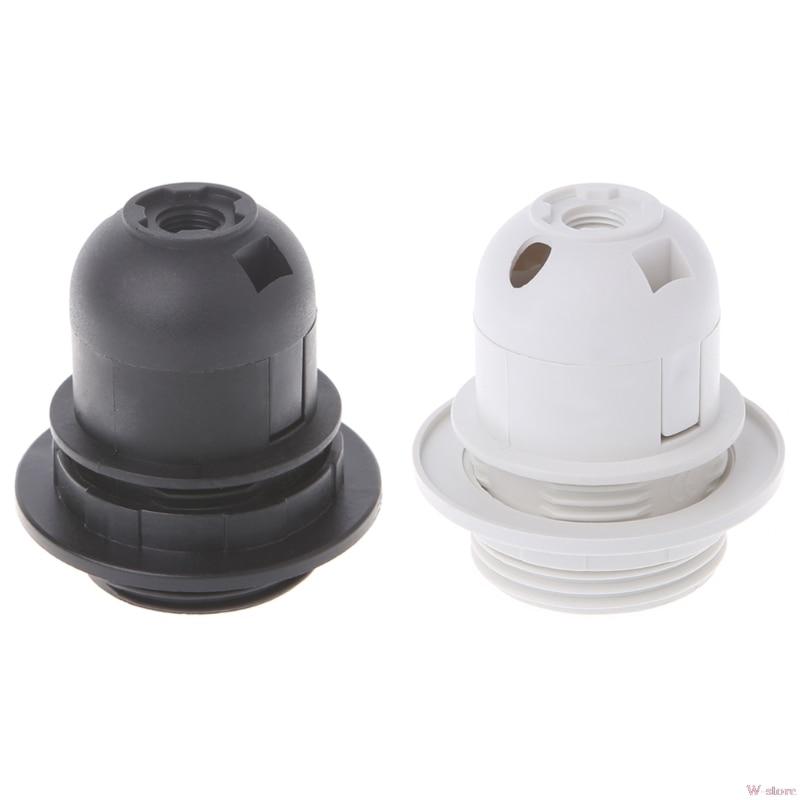 2018 E27 Lamp Bulb Holder Edison Screw Cap Socket White/Black Pendant Ceiling Light W-store Oct11_A