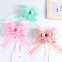 100pcs Large Size 50mm Beautiful solid color Pull Bow Ribbon Gift Packing flower bow Bowknot Party Wedding Car Room Decoration