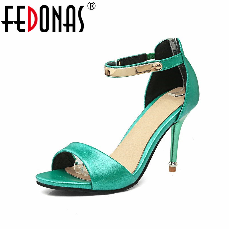 FEDONAS Woman Shoes Summer Ankle Strap Women Sandals Fringe Sexy Candy Colors Cute Sandal High Heels Sandals Female Shoes fedonas women sandals plus size 34 43 fashion ankle strap high heel summer women pump shoes woman cute colors elegant sandals