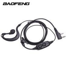 Baofeng için Çift PTT ile Kulaklık Kulaklık Profesyonel Walkie Talkie Kulaklık UV-82/UV-82L/UV-89 Iki Yönlü Telsiz