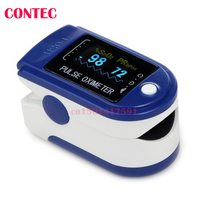 2017 NEW COME USA STOCK Free Rubber Case CONTEC Pulse Oximeter CMS50D Free Shipping Manufacture CE