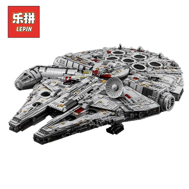 Lepin 05132 05007 Star Wars Figures Ultimate Collector's Millennium Falcon Set Model Building Blocks Bricks Toy Compatible 75192 2018 dhl lepin star series war 05007 05033 05132 building blocks bricks model toys compatible 75105 10179 75192 gifts
