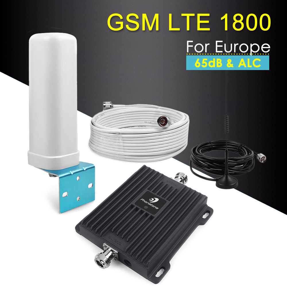 65dB Band 3 4G Amplifier LTE 1800 Mobile Phone Signal Booster Cell Phone Amplifier Cellular Booster GSM 4g Lte 1800mhz Repeater