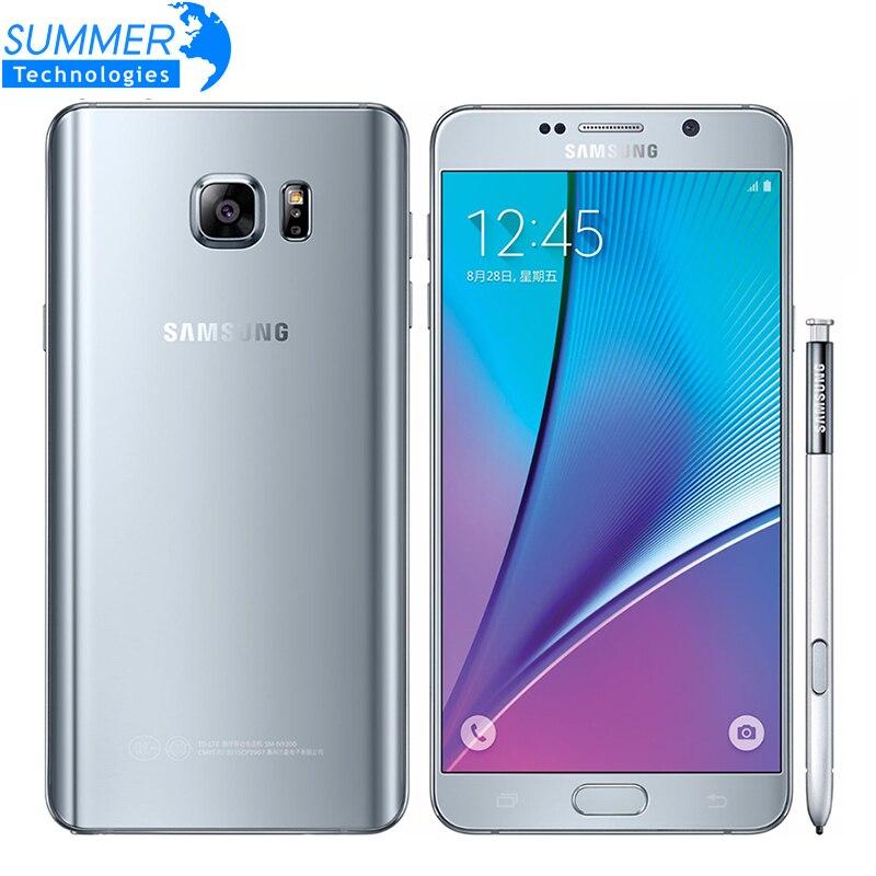 Original Débloqué Samsung Galaxy Note 5 4g LTE Téléphone Portable Octa Core 5.7 ''16.0MP 4 gb RAM 32 gb ROM Smartphone NFC