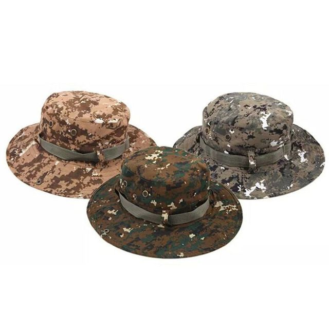 f4f834fe1dcb8 1PC New Unisex One Size Colorful Bucket Hat Boonie Hunting Fishing Outdoor  Cap Wide Brim Military