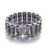 New retro jewelry wholesale titanium cross bracelet men domineering jewelry