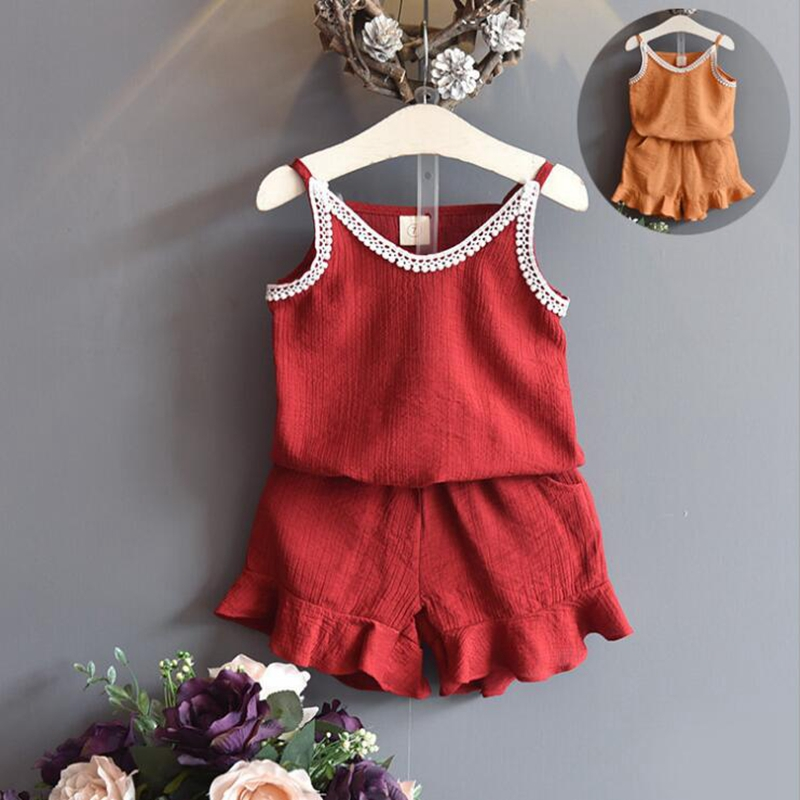 NEAT Summer baby girl set 2018 Girl clothes White Lace Cotton Sweatshirt Jumper Shorts Set princess children clothing X5551