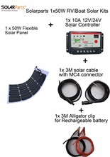 Cheap selling with high quality 50W Flexible Photovoltaic Solar Panel DIY solar system solar cell for