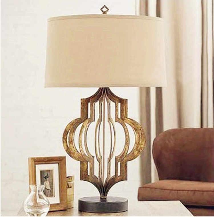 Ретро креативный скандинавский американский кантри средиземноморская настольная лампа гостиная спальня креативная прикроватная настольная лампа