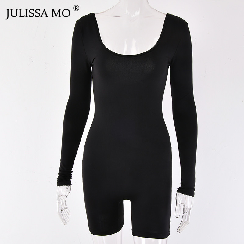 b4f2d5fc8 JULISSA MO Autumn Long Sleeve Bodycon Rompers Womens Jumpsuit Sexy ...