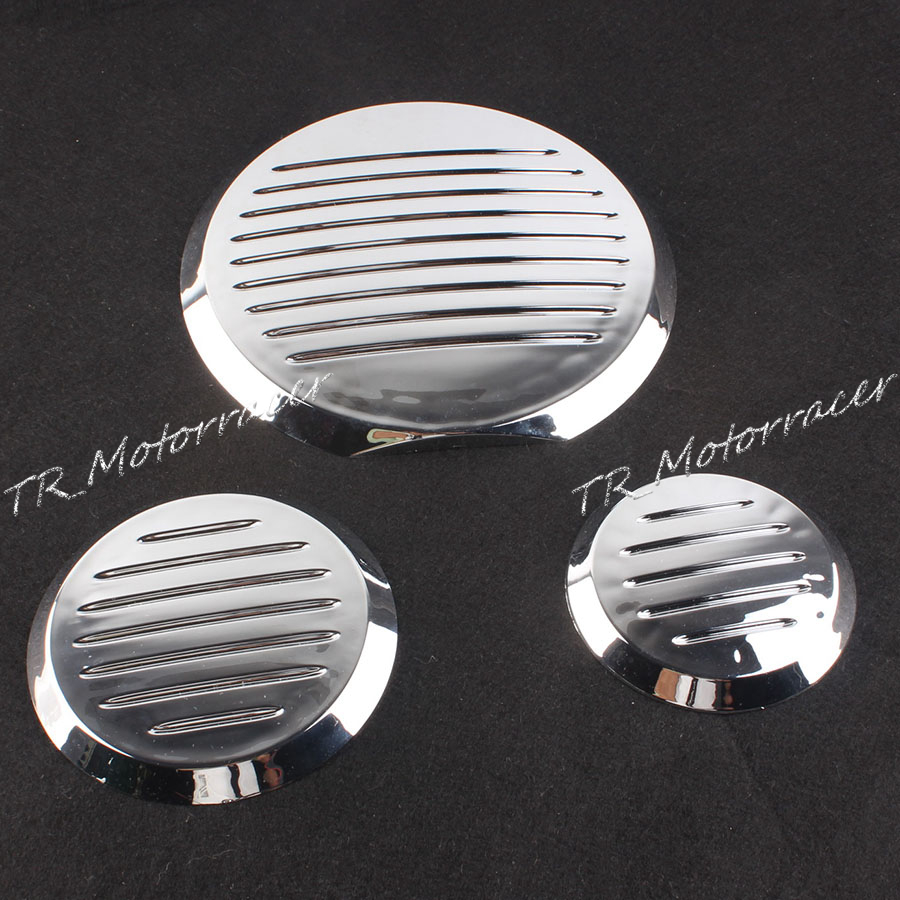 Motorcycle Chrome Engine Cover Insert Set For Honda VTX 1300 2003-2009 & VTX 1800 2002-2008 Motor Parts jiangdong engine parts for tractor the set of fuel pump repair kit for engine jd495