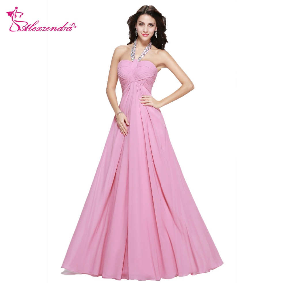 Alexzendra Beaded Long Chiffon Light Purple   Prom     Dresses   Backless Sexy Evening   Dress   Party   Dress   for Girls