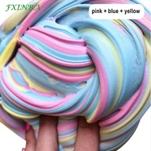FXINBA 60ml/box New Slime Fluffy Toys Soft Polymer Clay Lizun Supplies DIY Charms Fimo Fruit Slices Plasticine Antistress