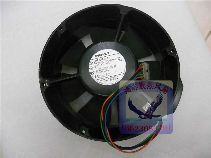 PAPST 17251 TYP6248N/12 48V 18W AC Fan,AC Motor Fan,Blower Fan freeshipping a2175hbt ac fan 171x151x5 mm 17cm 17251 230vac 50 60hz